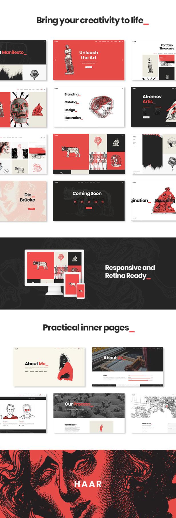 Haar - Portfolio Theme for Designers, Artists and Illustrators - 1